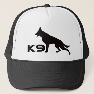 German Shepherd K9 Black Trucker Hat
