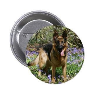 German Shepherd Laying Down 6 Cm Round Badge