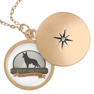 German Shepherd Locket Necklace