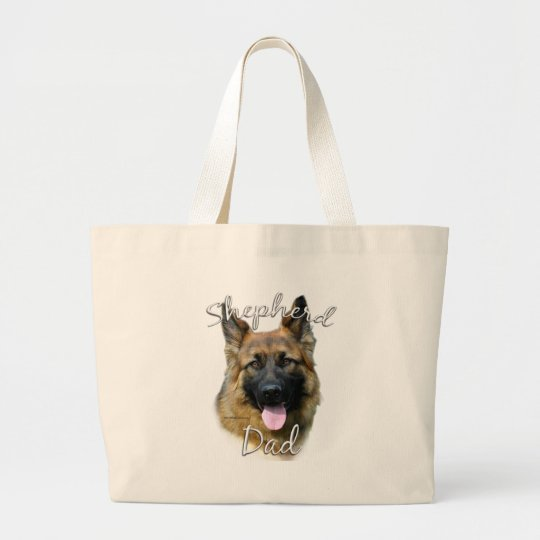German Shepherd (longhair) Dad 2 Large Tote Bag
