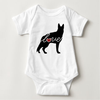 German Shepherd Love Baby Bodysuit