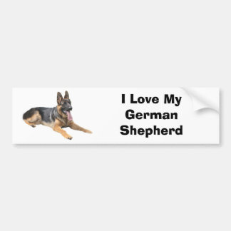 German Shepherd Love Bumper Sticker Car Bumper Sticker