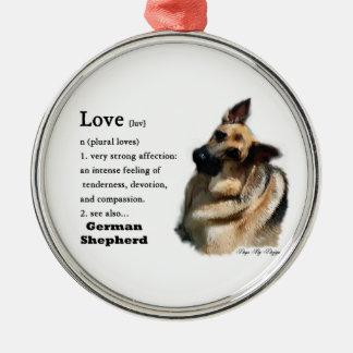 German Shepherd Love Is Christmas Ornament