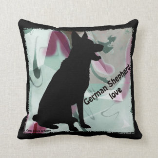 German Shepherd Love pillow by Carol Zeock Cushion