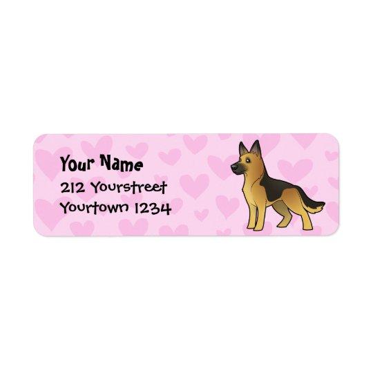 German Shepherd Love Return Address Label