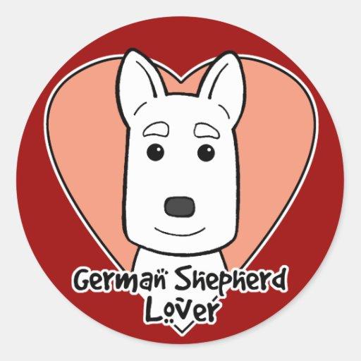 German Shepherd Lover Round Stickers