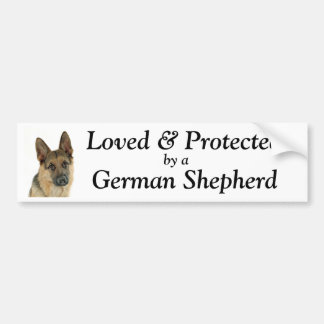 German Shepherd Lover's Delight Bumper Sticker