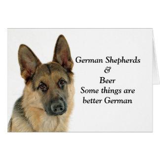 German Shepherd Lover's Delight Card