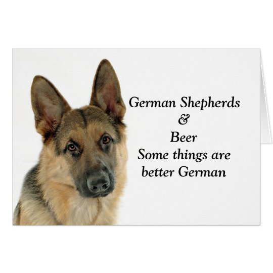 German Shepherd Lover's Delight Card
