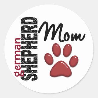 German Shepherd Mom 2 Stickers