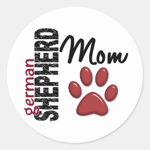 German Shepherd Mom 2 Sticker