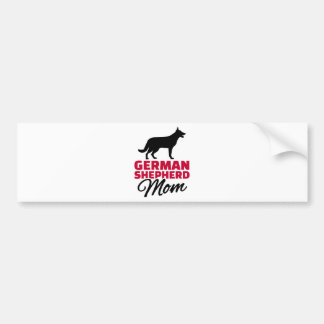 German shepherd Mom Car Bumper Sticker