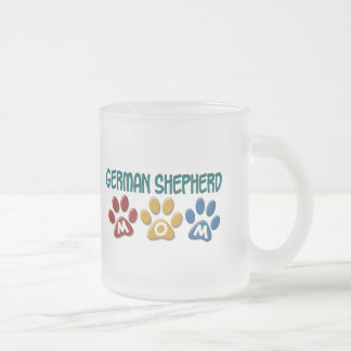 GERMAN SHEPHERD Mom Paw Print 1 Frosted Glass Coffee Mug