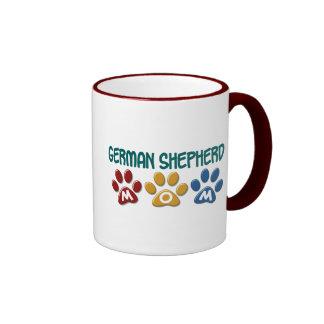 GERMAN SHEPHERD Mom Paw Print 1 Ringer Mug