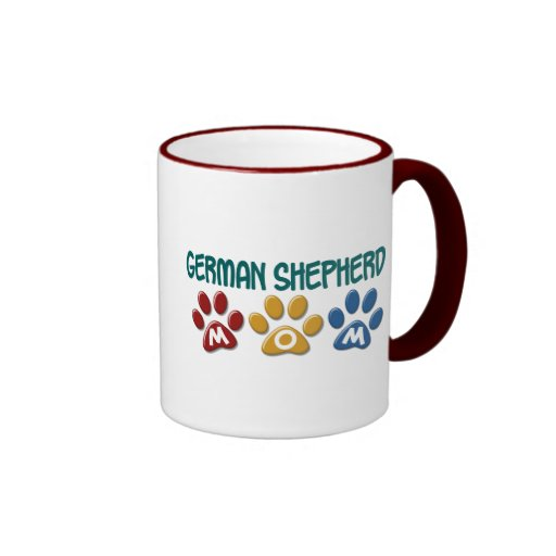 GERMAN SHEPHERD Mom Paw Print 1 Coffee Mugs