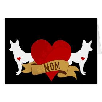 German Shepherd Mom [Tattoo style] Greeting Card