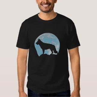 German Shepherd  Moon T Shirt