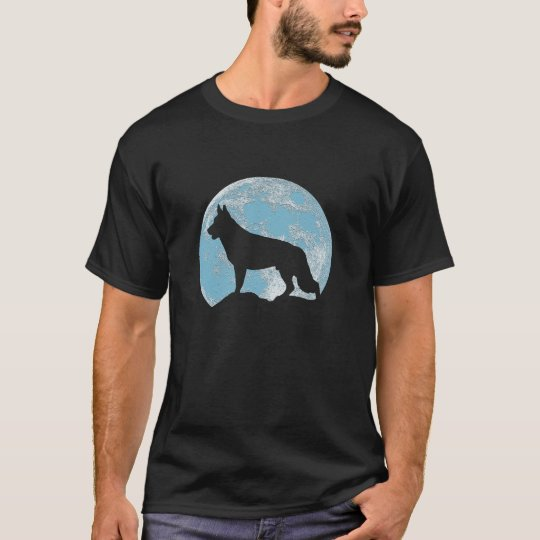 German Shepherd Moon T-Shirt