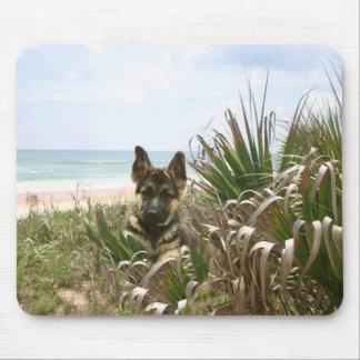 German Shepherd Mousepad Beachgrass