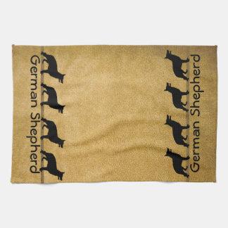 German Shepherd Muddy Paws Towel