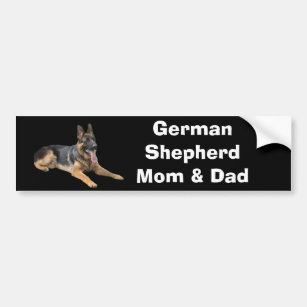 German Shepherd Mum and Dad Bumper Sticker