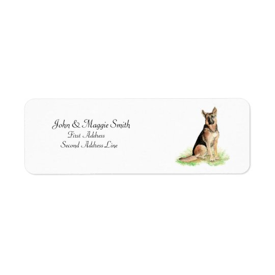 German Shepherd Name Label Return Address Label