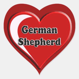 German Shepherd on Heart for dog lovers Heart Sticker