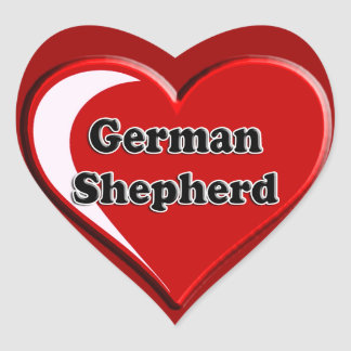 German Shepherd on Heart for dog lovers Stickers