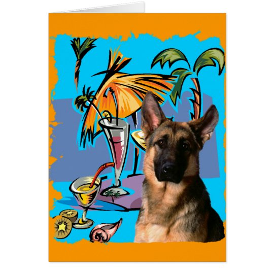German Shepherd PartyTime Card