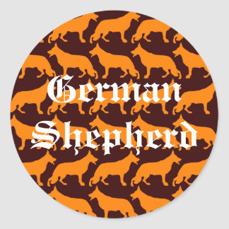 German  Shepherd Pattern Classic Round Sticker