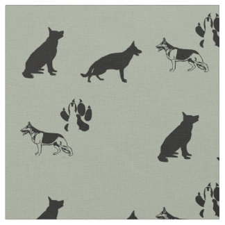 German Shepherd Pattern Fabric