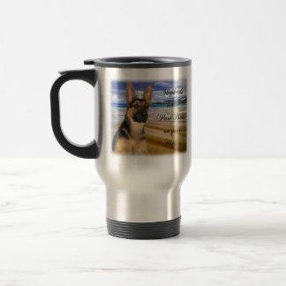 German Shepherd Paw Prints Travel Mug