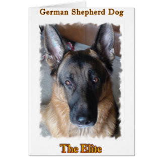 German Shepherd Personalized Photo Greeting Card