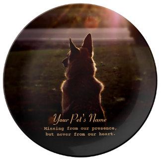 German Shepherd Pet Loss Memorial Plate