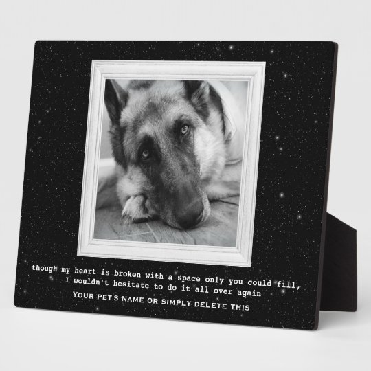 German Shepherd Pet Memorial with Your Photo Plaque