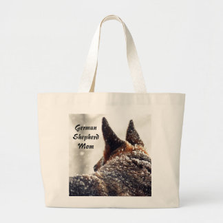 German Shepherd Photo Large Tote Bag