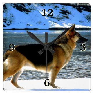 German Shepherd Photo Wall Clock
