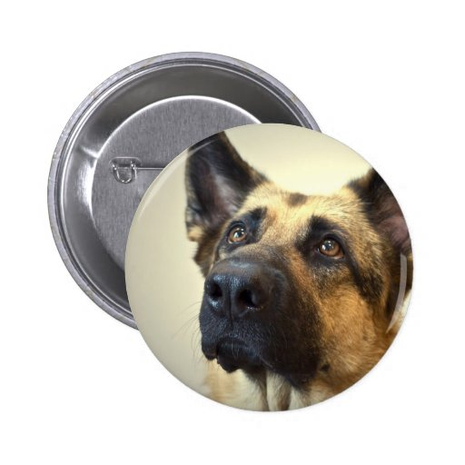 German Shepherd Picture Round Button