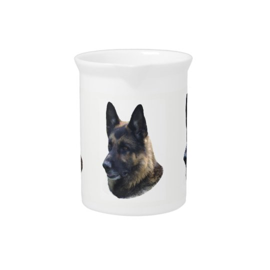German Shepherd Pitcher