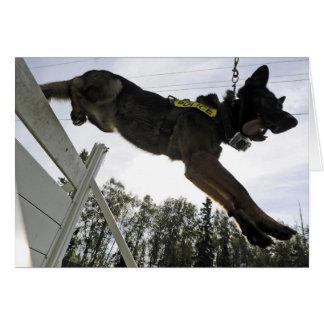 German Shepherd Police Dog Training Greeting Card
