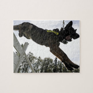 German Shepherd Police Dog Training Jigsaw Puzzle