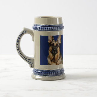 German Shepherd Portrait Beer Stein