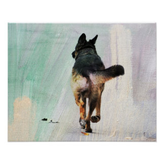 German Shepherd Portrait Fine Art Print