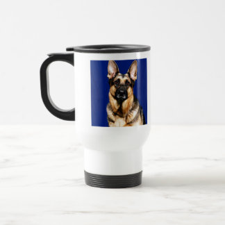 German Shepherd Portrait Travel Mug