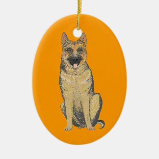 German Shepherd Products customize Ceramic Oval Decoration