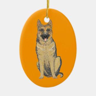 German Shepherd Products customize Ceramic Oval Decoration
