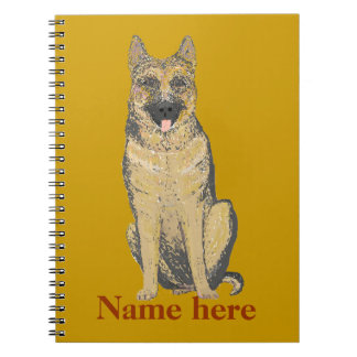 German Shepherd Products customize Spiral Notebook