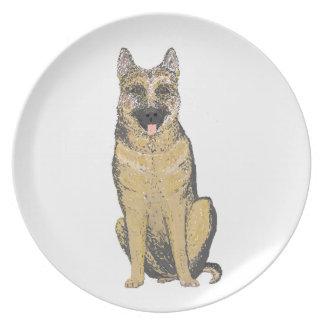 German Shepherd Products customize Dinner Plates