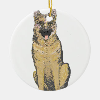 German Shepherd Products customize Round Ceramic Decoration
