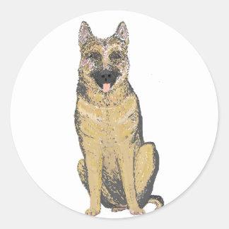 German Shepherd Products customize Round Sticker